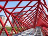 中国首座钢结构螺旋景观桥 今日在松江竣工
